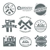 Carpentry Label Set Stock Photo