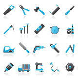 Carpentry, logging and woodworking icons. Vector icon set Royalty Free Stock Photography