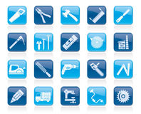 Carpentry, logging and woodworking icons Royalty Free Stock Images