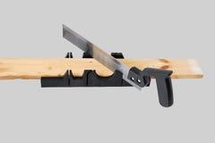 Carpentry miter box. Stock Photo
