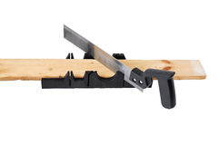Carpentry miter box. Royalty Free Stock Photos