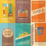 Carpentry Poster Set Royalty Free Stock Photography