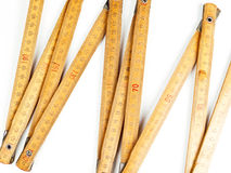 Carpentry ruler on white background Royalty Free Stock Photography