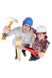 Carpentry team Stock Photography