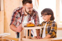 Carpentry team. Royalty Free Stock Images