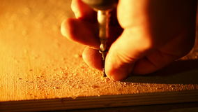 Carpentry - tighten the screw stock video