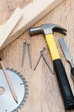 Carpentry tool background Royalty Free Stock Photo