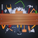 Carpentry tools background Stock Photos
