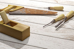 Carpentry tools Stock Photos