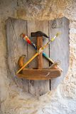 Carpentry tools on the wall Royalty Free Stock Photo