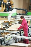Carpentry wood door manufacture Stock Photos