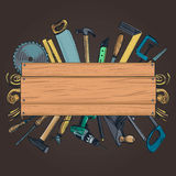 Carpentry woodworks background Royalty Free Stock Photography