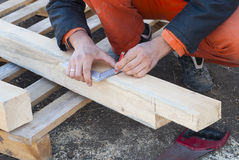 Carpentry work Royalty Free Stock Images