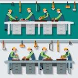 Carpentry Workshop Illustration Royalty Free Stock Image
