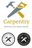 Carpentry Workshop. A logo for a carpentry workshop Royalty Free Stock Images
