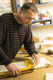 Carpentry workshop routine Royalty Free Stock Image