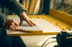 Carpentry workshop routine Royalty Free Stock Photography