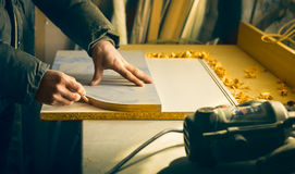 Carpentry workshop routine Royalty Free Stock Photos
