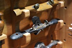 Carperter's Tools: Spokeshaves royalty free stock photo