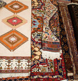 Carpet. Colorful carpet handmade craft background Stock Photo