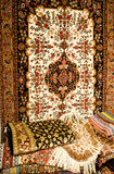 Carpet. Colorful carpet handmade craft background Stock Photography