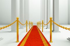 Carpet. A red carpet background, modern hall Stock Image