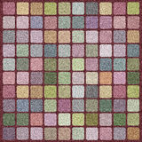 Carpet. With a square pattern, colorful, dynamic colors Stock Photos