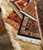 Carpet. Oriental ornate carpet. Persian hand made Royalty Free Stock Photos