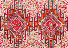 Carpet with animalistic ornament. The carpet with animalistic ornament stock image