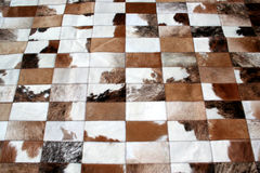 Carpet Argentino. Carpet of cow leather / Pachtwork Style Royalty Free Stock Images