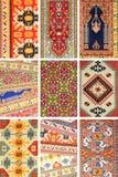 Carpet background. Carpet arabian Turkish Iranian Pakistan Afghani east Egyptian Moroccan Turkmen multicolor background stock image