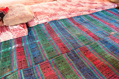 Carpet of a Bedouin camp Royalty Free Stock Photography