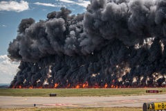 Carpet Bomb. Explosion at an airshow Royalty Free Stock Photography