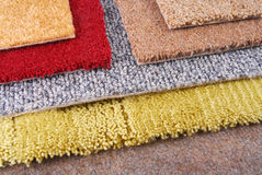 Carpet choice for interior Royalty Free Stock Image