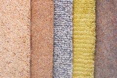 Carpet choice for interior. Closeup of the carpet choice for interior royalty free stock image