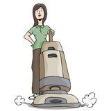 Carpet Cleaner Girl Royalty Free Stock Photography
