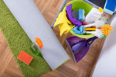Carpet cleaning concept. Stock Photos