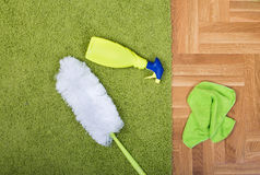 Carpet cleaning equipment royalty free stock photography