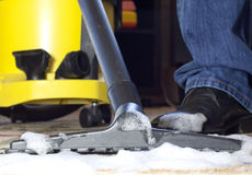 Carpet cleaning foam Stock Photos