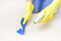 Carpet cleaning spray. Stock Images