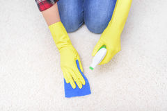 Carpet cleaning spray. Stock Image