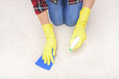 Carpet cleaning spray. Stock Photos