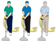Carpet Cleaning Tech Clip Art Set 2 Royalty Free Stock Image