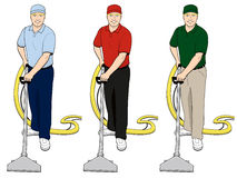 Carpet Cleaning Tech Clip Art Set 3 Royalty Free Stock Photo