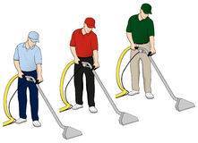 Carpet Cleaning Tech Clip Art Set 6 Royalty Free Stock Photos