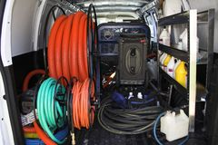 Carpet cleaning van 3 Royalty Free Stock Photo