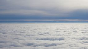 Carpet of clouds high altitude. Carpet of clouds at high altitude stock video footage