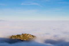 Carpet of clouds from mountain top Stock Photos