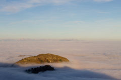 Carpet of clouds from mountain top Royalty Free Stock Images