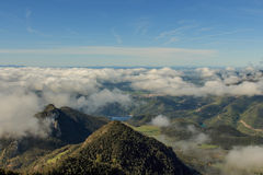 Carpet of clouds from the top of Sobrepuny.  royalty free stock images